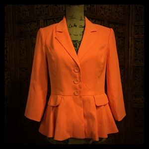 Forever 21 Exclusive Orange/Fuchsia Blazer